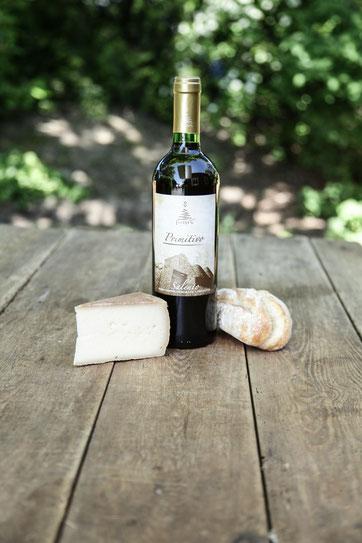 Der Lieblingsrotwein Primitivo, Bahde Baguettebrötchen und Backensholzer Käse