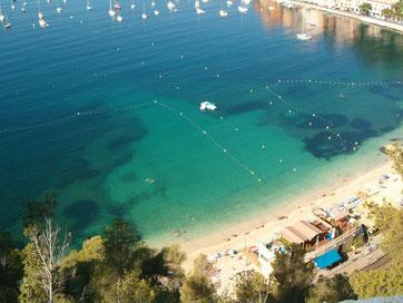 Praia no caminho entre Nice e Mônaco