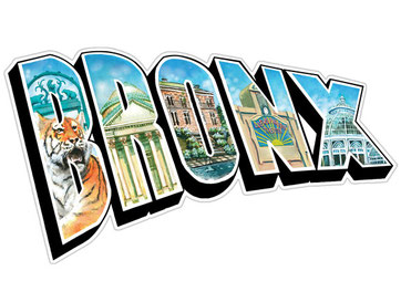 The Bronx Illustrated Sticker