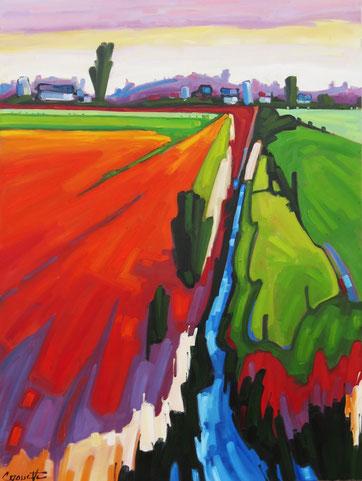Inspiration Champlain 40x30 huile sur toile