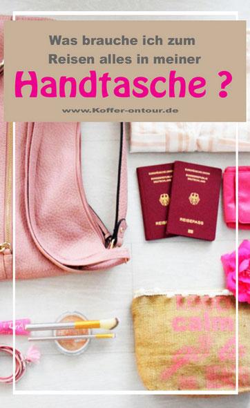 Handtasche, Reise, Checkliste