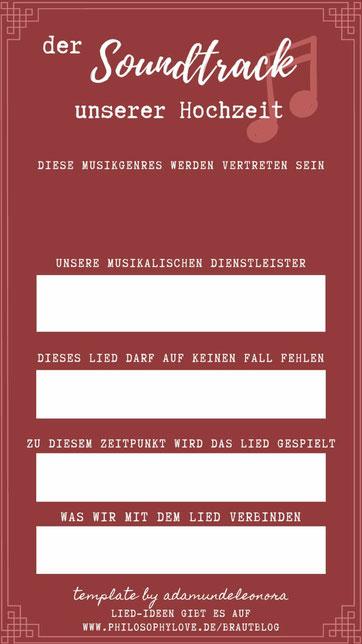 Die Hochzeitsliedliste für Eure Feier gefunden auf www.philosophylove.de