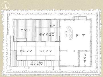内田家住宅 平面図(パンフレットより抜粋)