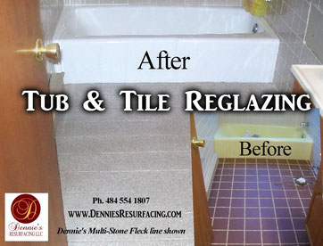 Dennies Resurfacing TubTile Reglazing Refinishing Dennies - Can you reglaze bathroom floor tile