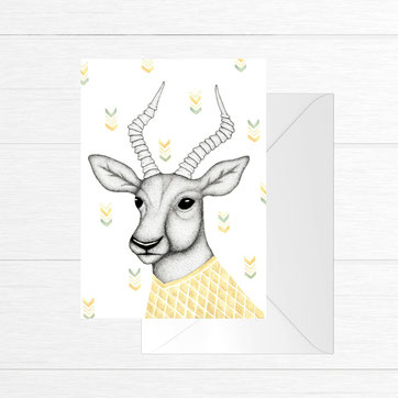 Antelope greeting card