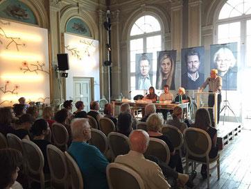 """Buchlesung """"Mein Kampf - gegen Rechts, 04. Juni 2016 im Deutschen Theater Berlin u. a. mit Irmela Mensah-Schramm. © Foto: C. Schmidt"""