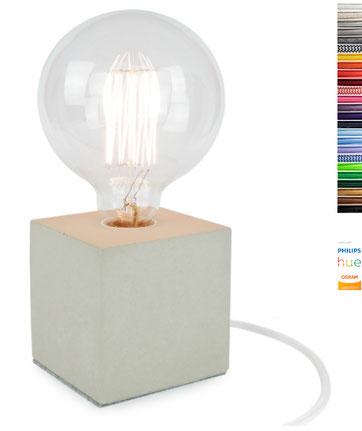 Beton Lampe Cube