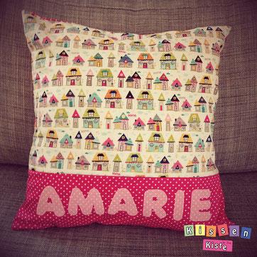 Individuelles Namenskissen Amarie - by Kissenkiste
