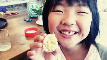 歯の跡が・・・
