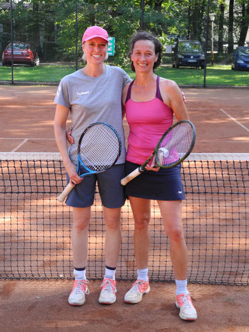 Vereinsmeister im Damen Doppel 2019 Berit & Dörthe