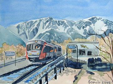 Schneeberg mit Zug 2014