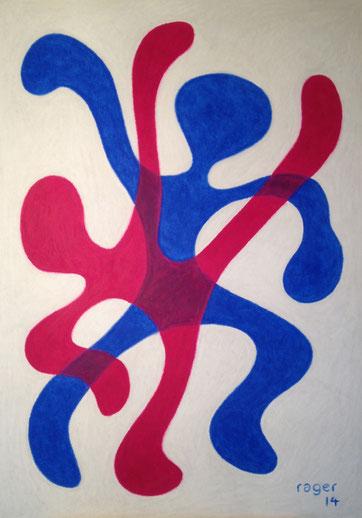 Tanzen, 70x100cm, Ölpastell auf Papier, 2014