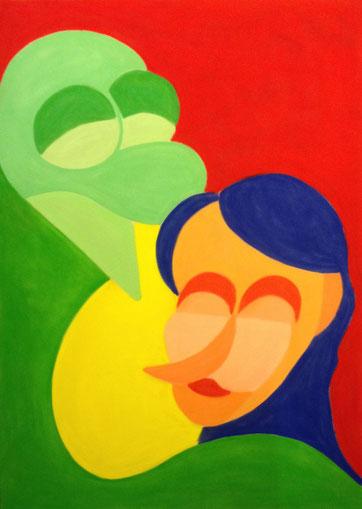 Ein glückliches Paar, 50x70cm, Pastell auf Velourspapier, 2013