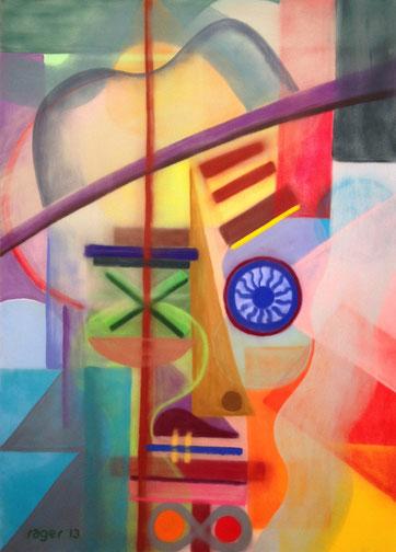 Phantombild des Verbindungsmannes, 50x70cm, Pastell auf Velourspapier, 2013