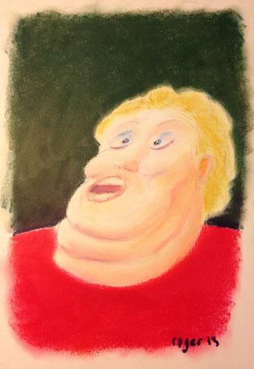 Natürlich kann ich singen, 21x29cm, Ölpastell auf Papier, 2013