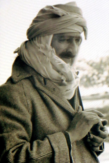 Photograph of Meher Baba, taken by Elizabeth Patterson in India, with thanks to Charles Haynes
