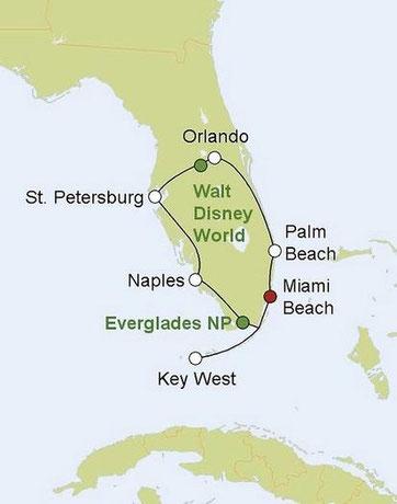 Mietwagenreise Florida