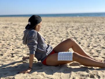 Julia Mayer Läuferin Wien emcoolssports kühlen Pooling Emcools beach Strand Monte Gordo Trainingslager Portugal oelv Austrian athletics