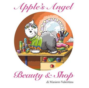 disegno-bobtail-con bigodini-asciugamano-spazzola-phon-tavolo-toeletta-animali-negozio-apples-angel-beauty-shop-porto-viro-valentina-masiero