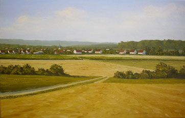 Nabern am Spätnachmittag (Öl auf Leinwand, 38 x 60 cm, verkauft)