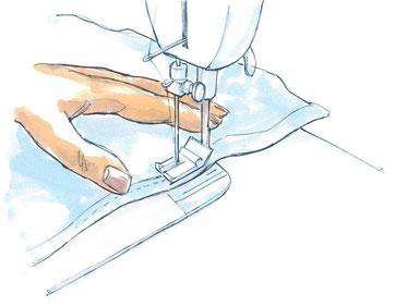 Zeichnung einer Nähmaschine