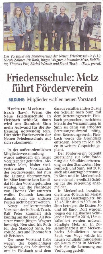 Herborner Tageblatt 10.05.2014