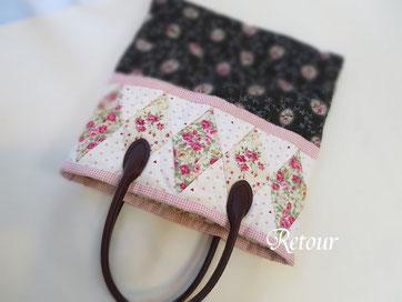 パッチワーク教室ルトゥール ひし形つなぎのバッグ