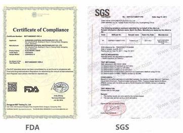 ニコチンリキッドSGS検査書類