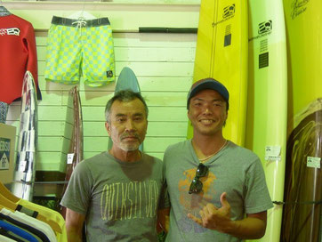 地区大会へ奄美からCan nen surf 碇山勇生プロとBOSS! 選手を引き連れての参戦~!ありがとうございます!