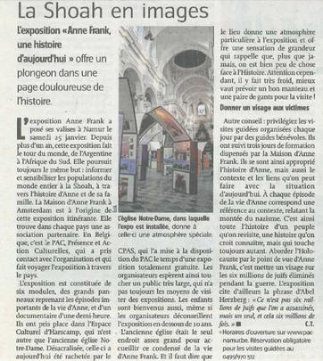 Article de l'Avenir du 30.01.2014