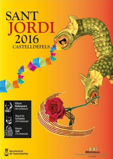 Diada de Sant Jordi en Castelldefels
