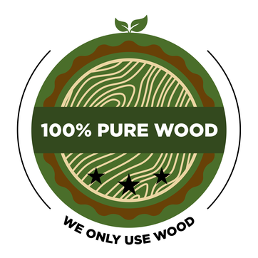 Pure Wood label