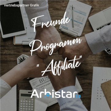 Arbistar 2.0 Telegram Sticker Affiliate Freunde Programm