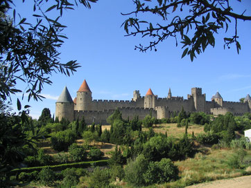 Carcassonne et chateau cathare