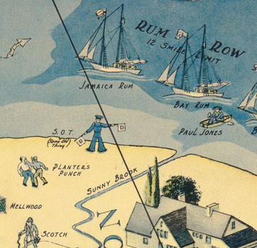 Carte publicitaire de l'époque de la prohibition - Pacha - Guillaume Sciaux