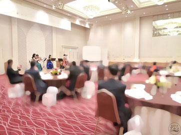 ホテル、パーティーでの余興、BGM演奏に弦楽四重奏を