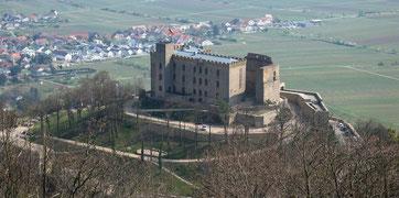 Herrlicher Blick auf das Hambacher Schloss