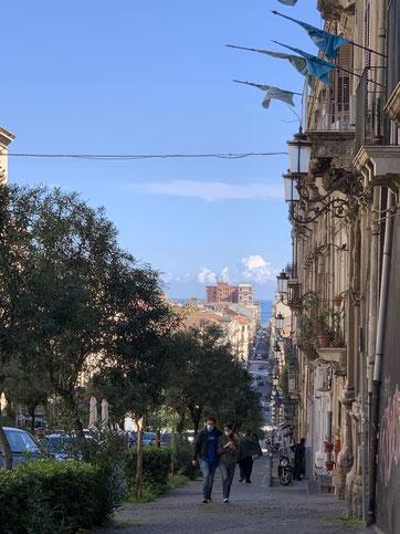 Italien, Sizilien, antike Stätte, via Antonino di Sangiuliano, Catania, Sehenswürdigkeit