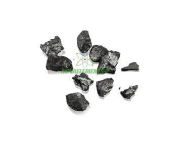 shiny Lutetium metal pieces element 71 sample