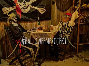 Halloweendeko, Dekoration, Halloweenhaus Lüneburg, Halloweenprojekt 2019
