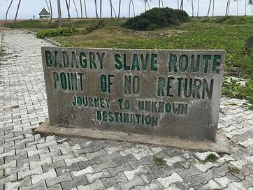 Badagry, Nigeria, il punto di non ritorno, dove gli africani catturati partivano per le Americhe