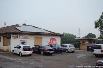 Zu sehen ist das Vereinsheim vom FSV 03 Osthofen. Archivfoto