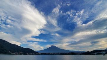 富士山、河口湖、湖上祭