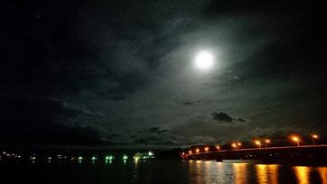 河口湖 夜の風景