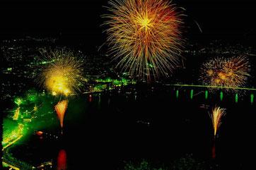 河口湖湖上祭、山梨