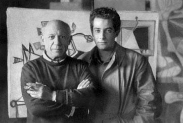 Gillo Pontecorvo e Pablo Picasso, Parigi 1947.