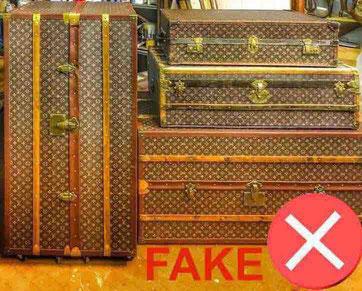 Louis Vuitton counterfeit trunk
