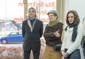 Vernissage Projektraum Bahnhof 25 - 13.02.2016 Rita Beckmann, Johannes Trittien, Pauline Flory - Foto, Carla Gottwein 2016