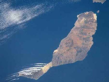 Fuerteventura from satellite