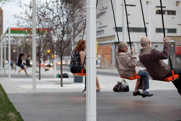 Bus stop in Montreal, Canada